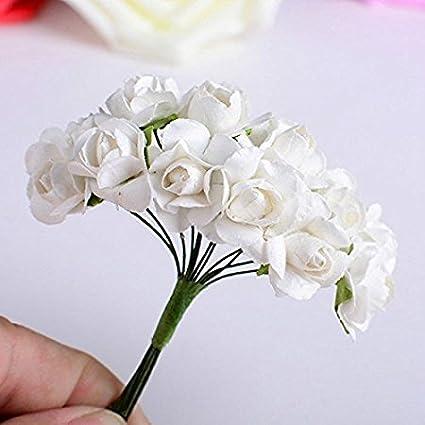 Buy Paper Flowers Wedding Decoration Mini Rose Flower Hand Made