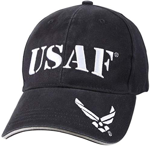 BlackC Sport Vintage USAF Low Profile Cap - Navy Blue & White