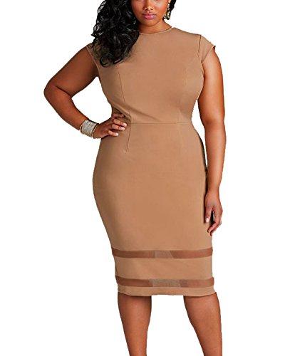 Damen Plus Size Bandage Cocktailparty Bodycon Bleistift Kleid ...