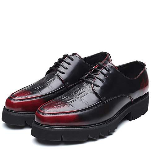 Semplice Rosso Xhd scarpe Uomo Oxford Comoda Da Retro Scarpe Wipe Up Moda Formali Suola Lace Casual xBaqZwa