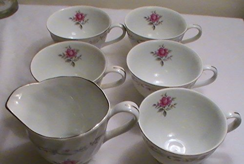 (Royal Swirl Fine China - 6 Piece Set--5 Cups & Creamer)