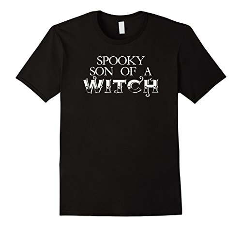Mens Spooky Son of A Witch 2XL Black