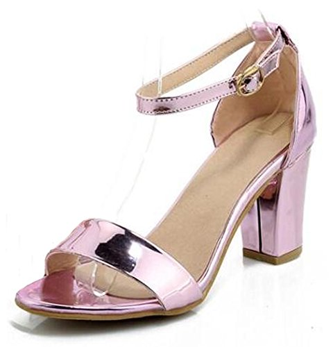 Sandalo Alla Caviglia Metallico Elegante Con Cinturino Alla Caviglia E Scarpe Alte Da Lavoro