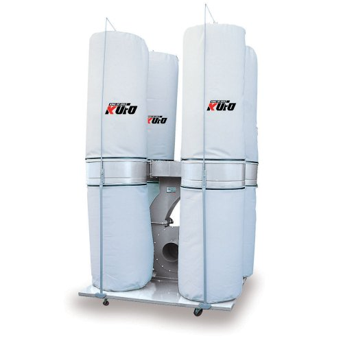 Kufo Seco UFO-104D, 10HP, 3phase 220/440V (Prewired 220V) 6,450 CFM Bag Dust Collector by Air Foxx