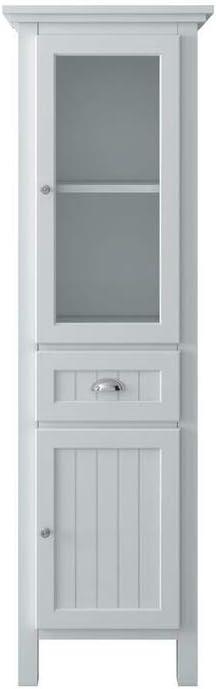 Home Decorators Collection Ridgemore 20 in. W x 65 in. H x 14 in. D Bathroom Linen Storage Cabinet in White