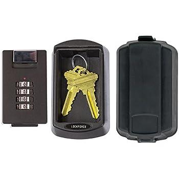 Lockforce Key Lock Box Waterproof Case And Premium Wall