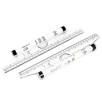 Amazon.com: Uxcell a14112800ux0052 Multi Function Drawing Tool 30cm ...