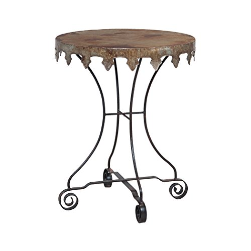 Manhattan Collection Reclaimed Tin 24-Inch Bistro Table