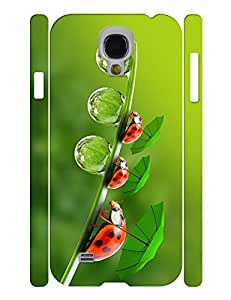 Umbrella Theme Smart Phone Case With Cute Ladybird Printed Anti Scratch Case Cover for Samsung Galaxy S4 I9500 wangjiang maoyi