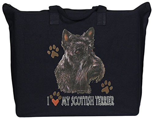 Terrier Zippered Tote - BAGedge Scottish Terrier Zippered Tote Bag
