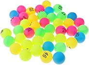 chiwanji Lot of 50 Beer-Pong Balls Assorted Colors 40 Mm Printed with Number - Number 1-50, 40mm