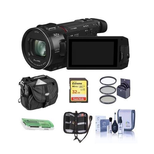 Panasonic HC-WXF1K 4K UHD Camcorder, 24x...