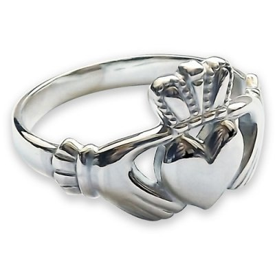 sterling silver claddagh ring 13 5mm unisex made