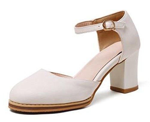 Sandali Con Cinturino Alla Caviglia E Tacco Medio Smussato Da Donna Elegante Easemax