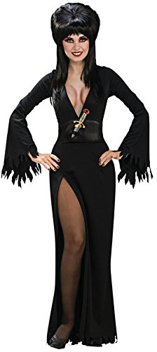 Ultimate Halloween Costume UHC Women's Gothic Vampire Witch Elvira Black Sexy Halloween Themed Costume, XS (0-2)