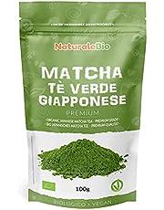 Ekologiskt grönt matcha pulverte [ PREMIUMKVALITET ] 100 g. Matchate producerat i Japan, i staden Uji, Kyoto. Perfekt att dricka, till efterrätter, smoothies, iste, i latte och som ingrediens.