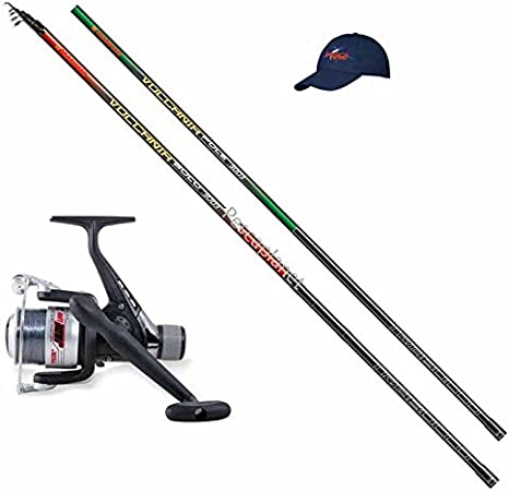4m Pure Carbon Fishing Rod Bolognese Rod Combo