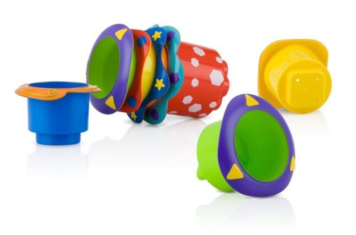Game / Play Nuby Splish Splash Stacking Cups 5-Pack. Stackable, Toys, Non-toxic, Plastic, Colorful Toy / Child / Kid