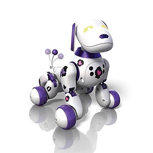 Zoomer Dog Funky Girl 2.0 Purple Spots 2X the Tricks by Spin Master by Spin Master