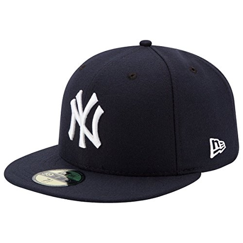New Era Mens New York Yankees MLB Authentic Collection 59FIFTY Cap, Size 7 1/8