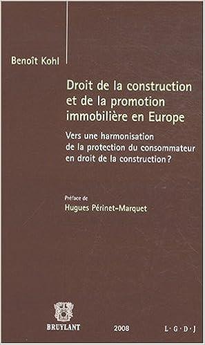 Book droit de la construction et de la promotion immobilière en Europe