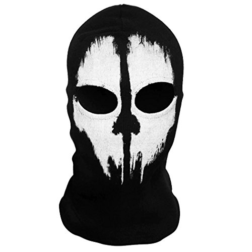 [Hi-crazystore Scary Mask Halloween Costumes Call of Dudy Ghost Skull Mask Balaclava Ski Protective Full Face Mask] (Ghost Face Mask)