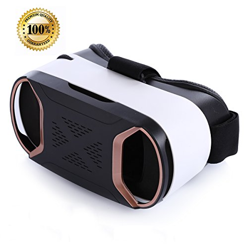Sunnyfair 3D VR Headset Virtual Reality Glasses For Play Your Best Mobile Games & 360 Movies , More Comfortable VR Glasses Goggles Plus Special Adjustable Eye Care System