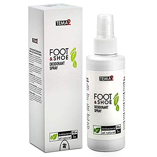 Antibacterial Shoe Deodorizer and Foot Odor Eliminator Spray - Strong Feet & Shoe Deodorant - Removes Bad Smell from Sandals Tennis Athlete Dance Sneaker Climbing Work Stinky Shoes