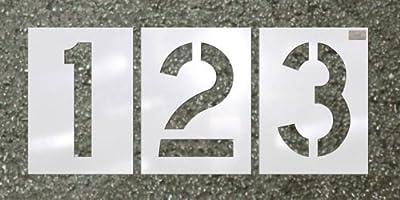 """CH Hanson 12 Piece Number Kit - Pavement Stencil - Font Size 12"""" X 9"""""""