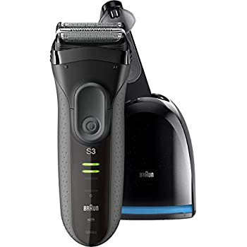 Braun Series 3 ProSkin 3050cc Men's Electric Foil Shaver / Rechargeable Electric Razor, and Clean & Charge Station, Black