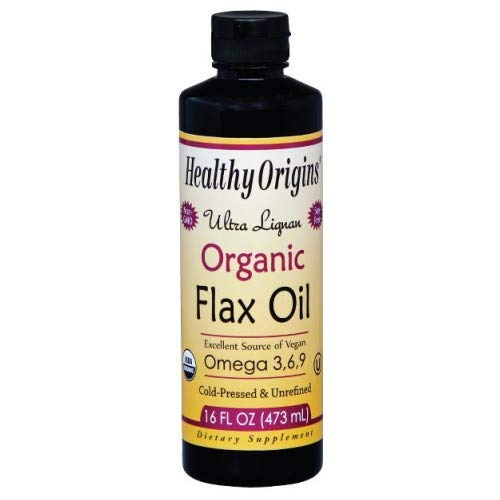 (Healthy Origins, Ultra Lignan Organic Flax Oil, 16 fl oz (473 ml) - 2pc)