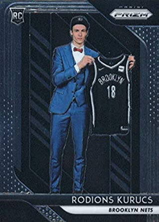 fa146df9b 2018-19 Panini Prizm  188 Rodions Kurucs Brooklyn Nets Rookie Basketball  Card