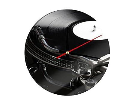 Cristal Reloj Tocadiscos, 30 x 30 cm: Amazon.es: Hogar