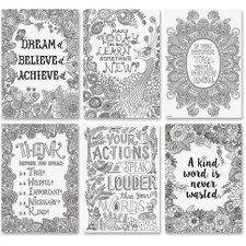 Creative Teaching Press Color-Me Inspire U Poster, 6 Pack (3193)