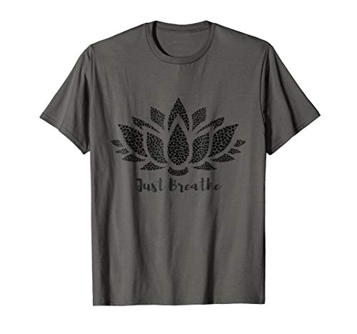 Just breathe, lotus flower, yoga t-shirt ()