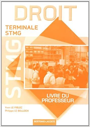 Livre gratuits en ligne Droit Tle STMG : Livre du professeur pdf epub