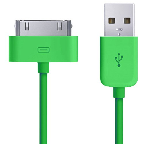 - Xtra-Funky 2 Meter USB Charger Data Sync Transfer Cable Compatible with iPhone 3G 3Gs 4 4S / iPod Touch 1st 2nd 3rd 4th Gen/iPod Nano 1st 2nd 3rd 4th 5th 6th Gen - Green