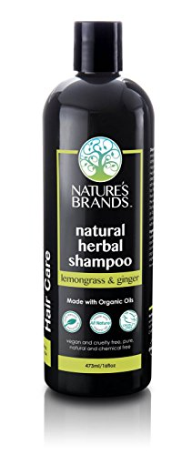 Herbal Lemongrass Shampoo (Herbal Choice Mari Natural Shampoo, Lemongrass & Ginger; 16floz, Made with Organic)