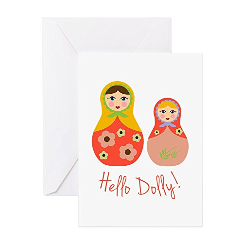 CafePress - Hello Dolly! Greeting Cards - Greeting Card, Note Card, Birthday Card, Blank Inside Matte