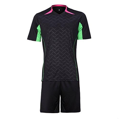 ワットたまに遅れgadiemenssサッカージャージーシャツセットメンズレディース、ソフト通気性