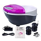 Ionic Detox Foot Bath SPA Machine Negative Hydrogen System Plus Panel Control + Massage Tub Basin 2 Arrays by Healcity
