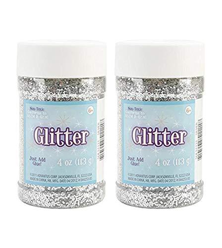 Sulyn SUL51121 4 oz. Glitter Jar - Silver (Twо Pаck)