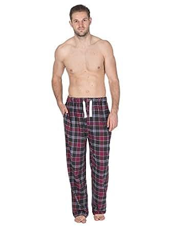 Mens Cargo Bay 100% Cotton Check Lounge Pants / Pyjama Bottoms