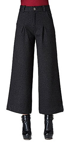 Youtobin Women's Hight Waist Wide Leg Comfortable Loose Flared Pants 35 - Beckham Where Victoria Buy To