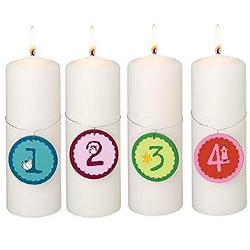 Rader Kerzenzahlen 1 2 3 4 Advent Amazon De Kuche Haushalt