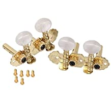 DN 1 Set Golden 2R2L Tuning Pegs Machine Heads Tuner For Ukulele Classical Guitar 4string 6pcs Screws