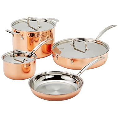 Cuisinart CTP-7AM Copper Tri-Ply Stainless Steel 7-Piece Cookware Set