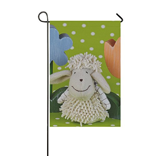 Home Decorative Outdoor Double Sided Sheep Flowers Spring Ea