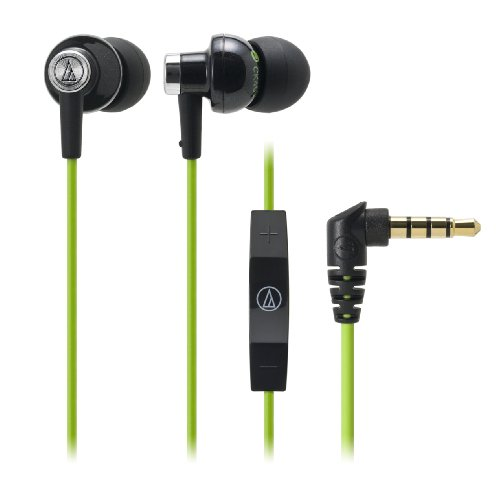 Audio Technica ATH-CK400i BGR BLACK-GREEN | Inner Headphone for iPod / iPhone / iPad / (Japan Import) by audio-technica