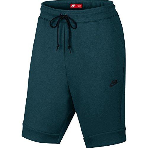 Nike mod. M Nsw Tch Flc–Pantaloncini da uomo Turchese (Turchese di mezzanotte / Turchese di mezzanotte / melange / Nero)